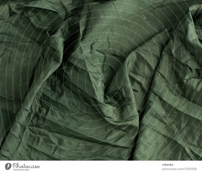 green satin textile fabric Luxury Elegant Design Fashion Cloth Glittering Dark Soft Green Colour Material backdrop background Canvas cream crumpled Curtain