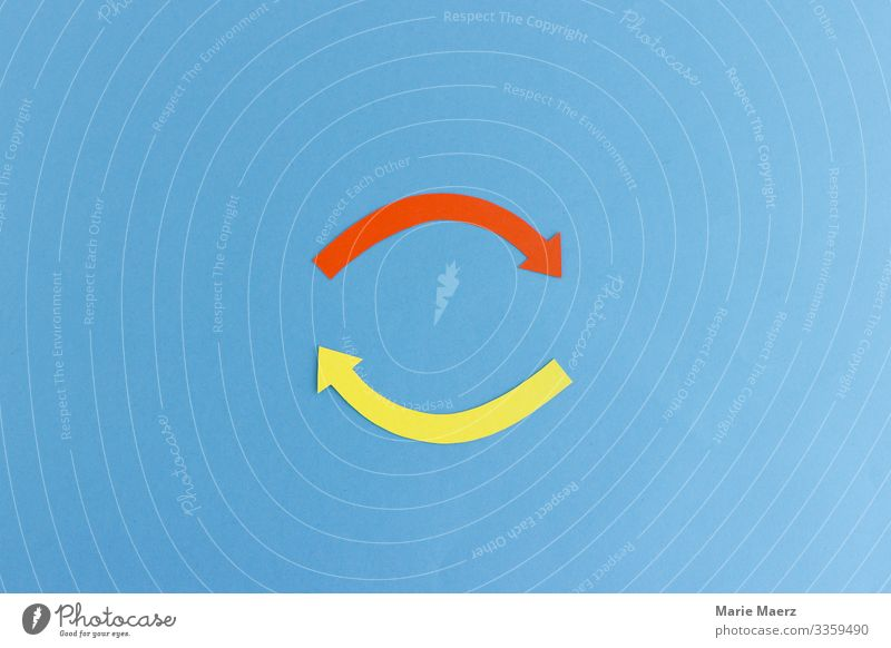 Circuit | Two arrows in a circle interaction circulation Arrow amplification Process illustration Illustration Movement Concepts &  Topics Circle Detail Round