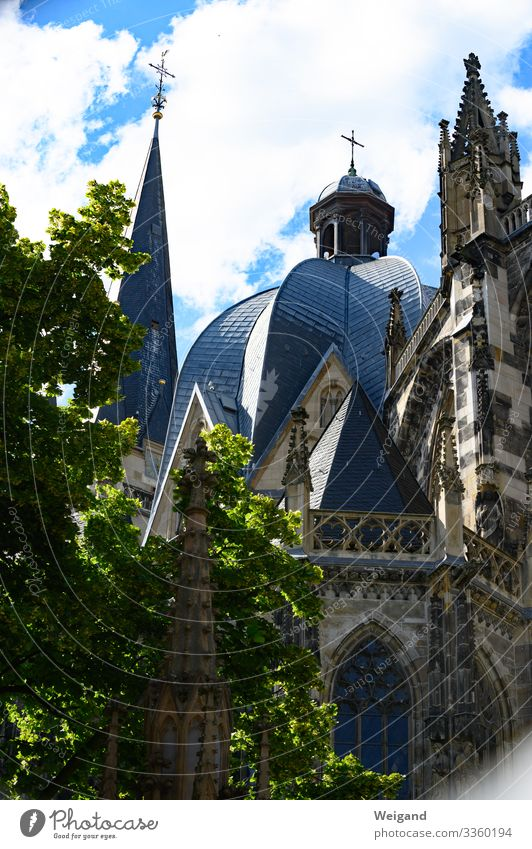 Aachen House (Residential Structure) Church Dome Firm Arrangement Catholic Religion and faith Christianity Colour photo Exterior shot