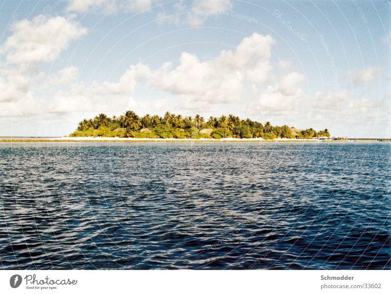 Maldives Island Ocean Clouds Sky Graffiti