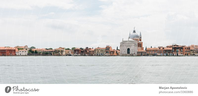 Panoramic view of Venice on the water, Italy Vacation & Travel Tourism Trip Sightseeing City trip Canal Grande Europe Port City Dome Palace Building