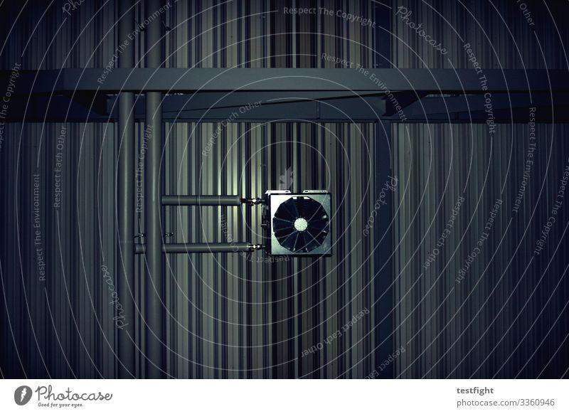 air conditioning Air conditioning Trashy Gloomy Blanket Ventilation Hall Colour photo Interior shot Flash photo