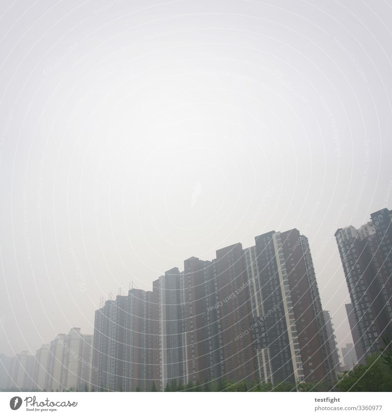 skyscrapers Town Capital city Outskirts Deserted House (Residential Structure) High-rise Manmade structures Building Architecture Threat Dark Large Creepy Gray