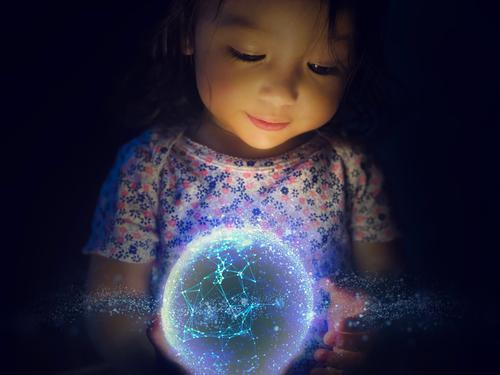 Modern Science and Technology Begins With a Child's Creativity Science & Research Advancement Future High-tech Information Technology Internet Energy industry