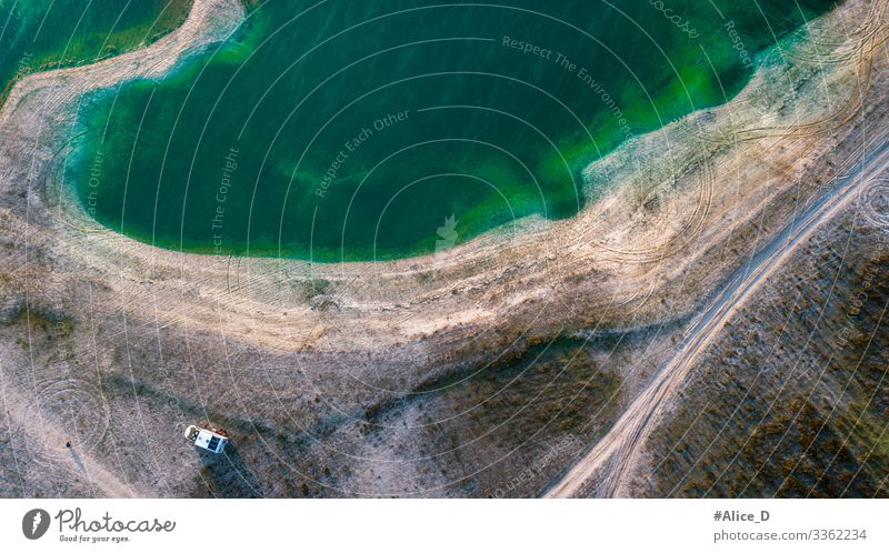 Camper at the Reservoir from Montargil view from above Ponte de Sor Portugal aerial aerial photography aerial view alentejo background beautiful calm camper