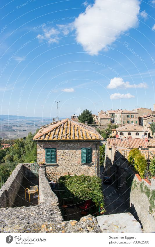 city view Vacation & Travel Tourism Summer vacation Small Town Old town House (Residential Structure) Dream house Terrace Living or residing Tuscany Italy
