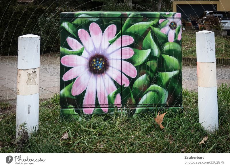 instead of flowers Telecommunications Distributor Technology cable network Cable splitter Art Painting and drawing (object) Plant Flower Blossom Bollard
