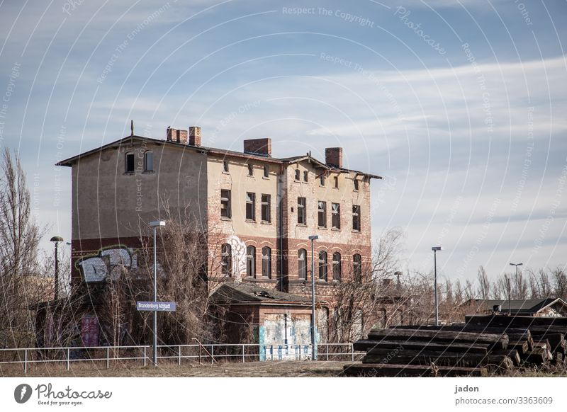 old train station. Elegant Logistics Environment Beautiful weather Brandenburg an der Havel Town Old town House (Residential Structure) Dream house