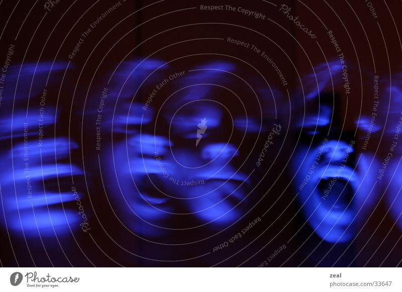 ::.. me myself and i...: Long exposure Scream Man Face Mostly multiple exposure Blue Ghosts & Spectres  ghost
