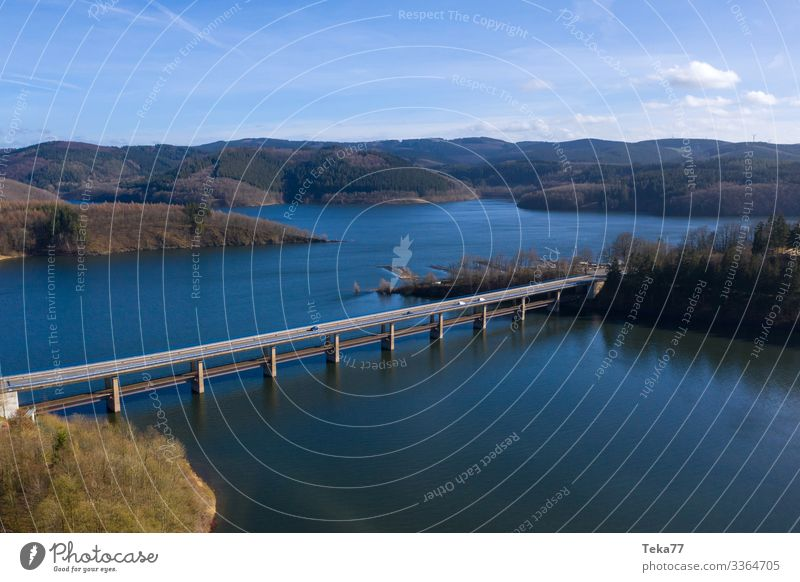 #Bigge in the Sauerland from up above in winter Winter Environment Nature Landscape Water Climate Meadow Field Forest Waves Coast Lakeside Bay Esthetic Bridge