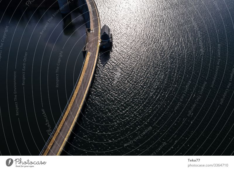 #Reservoir from above Summer Environment Nature Landscape Air Water Esthetic Retaining wall Dam Drinking water Colour photo Exterior shot Aerial photograph