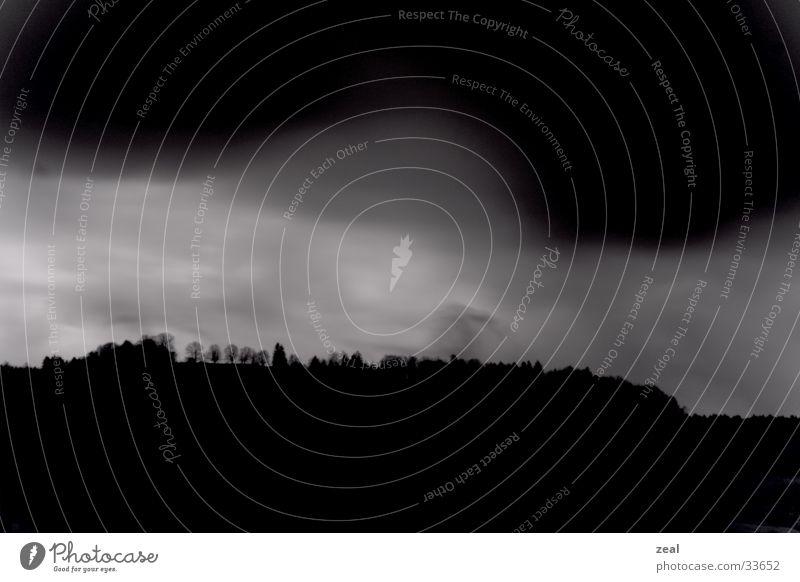 Dark Mountain Landscape Thunder and lightning Filter Infrared