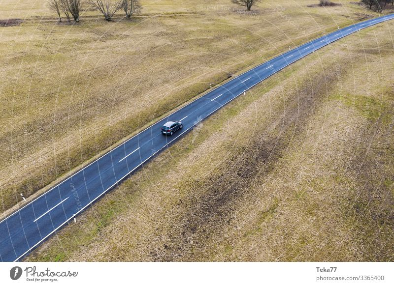 #Car from upstairs #2 Winter Transport Means of transport Traffic infrastructure Road traffic Street Esthetic Colour photo Exterior shot Aerial photograph