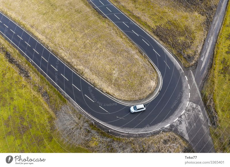 #Car from upstairs #1 Winter Transport Means of transport Traffic infrastructure Motoring Esthetic Contentment Street street from above Colour photo