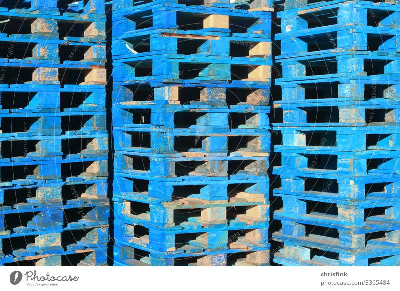 Blue Euro pallets stacked Lifestyle Economy Industry Trade Logistics Services SME Technology Transport Vehicle Rail transport Movement Cheap Flexible Stress