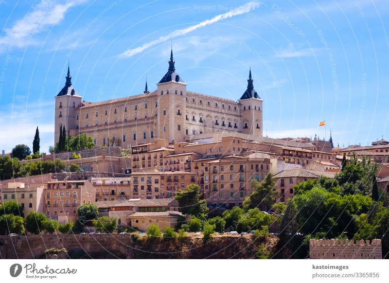Alcazar of Toledo Vacation & Travel Tourism House (Residential Structure) Landscape Earth Sky Hill Town Palace Castle Building Architecture Facade Terrace Stone