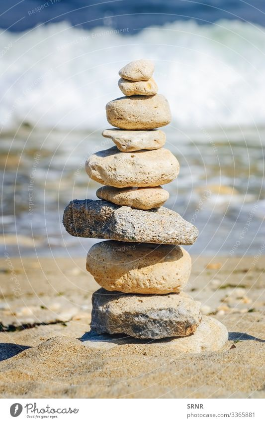 Pyramid Beach Ocean Environment Nature Sand Water Rock Coast Stone Esthetic Balance bay Cairn Ecological ecosystem Heap landwash marine no person Pebble pyramid