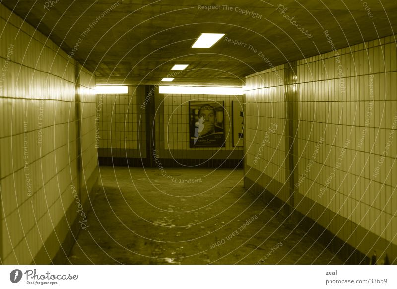 ::.. underground no.1 ...: Tunnel Pedestrian Passage Yellow Architecture Underpass Train station Lanes & trails subway