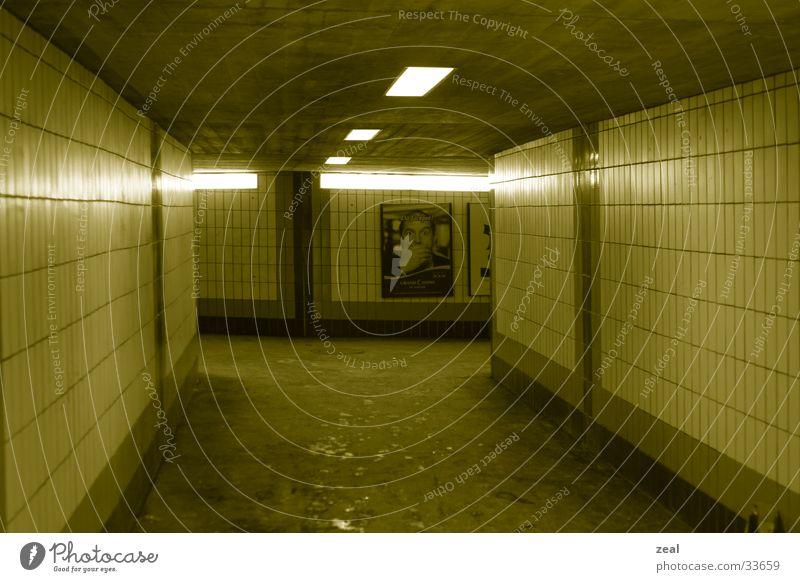 Yellow Lanes & trails Architecture Tunnel Train station Pedestrian Passage Underpass