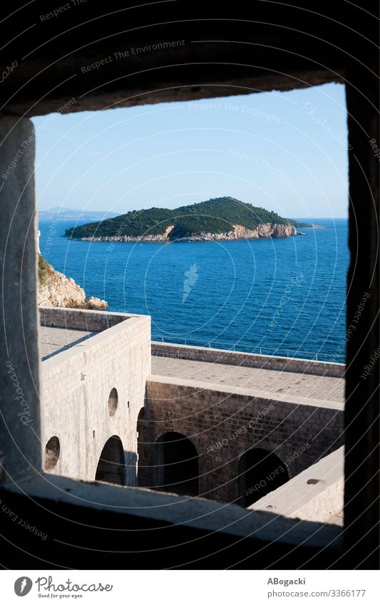 Lokrum Island From Fort Lovrijenac In Croatia Vacation & Travel Sightseeing Ocean Nature Landscape Castle Manmade structures Building Architecture