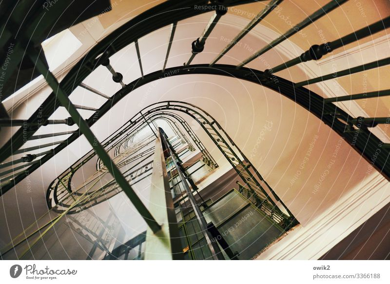 staircase Vienna House (Residential Structure) Staircase (Hallway) Banister Elevator Tall Services Spiral Upward Curved Irritation Stability Colour photo