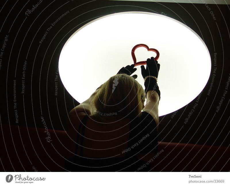 Woman & District I Light Long exposure Hand Heart Moon