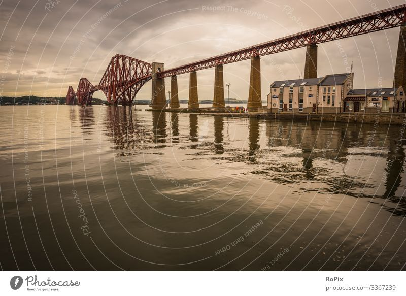Firth of Forth railway bridge. Lifestyle Design Relaxation Leisure and hobbies Vacation & Travel Tourism Sightseeing City trip Economy Industry Art Architecture