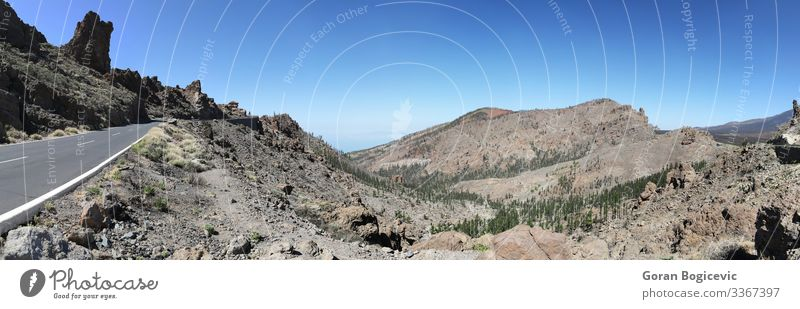 Teide National Park in Tenerife, Spain Beautiful Summer Island Mountain Environment Nature Landscape Sky Stone Natural Wild national canary Volcanic Formation