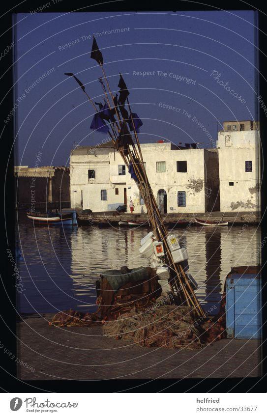 Romance Harbour Fisherman Moral Africa Tunisia Fishing net Fishing port