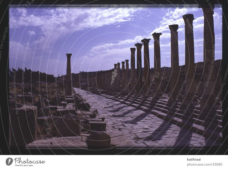 jerash colonnaded street Near and Middle East Jordan Jerash Archeology Historic Arabia Architecture Past