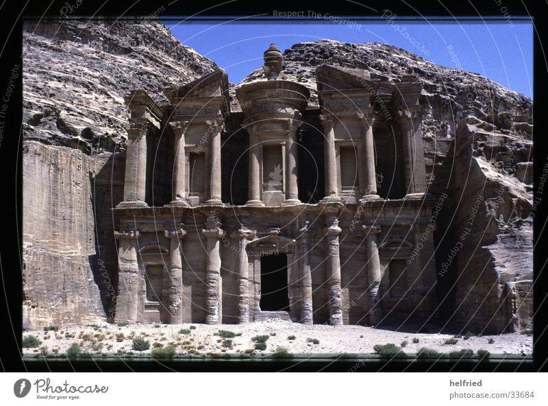 Petra Ed-deir Near and Middle East Jordan Grave Arabia Architecture ed-Deir god stamp Desert ObodasIII