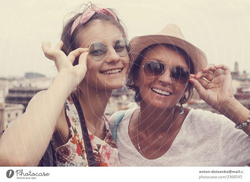 Mother daughter child family love happy joy fun Lifestyle Joy Happy Beautiful Child To talk Girl Young woman Youth (Young adults) Woman Adults Head Hand 2