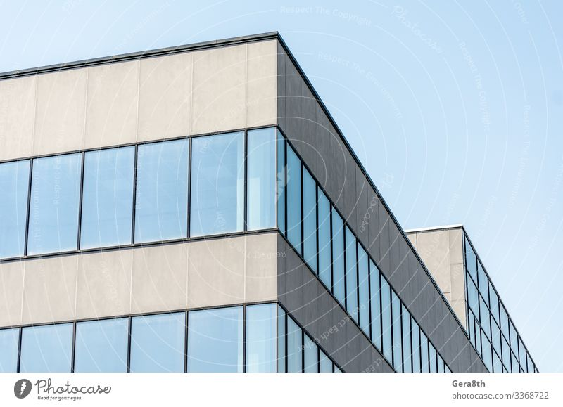 gray concrete building with empty windows House (Residential Structure) Office Building Architecture Street Stone Concrete Modern New Blue Gray