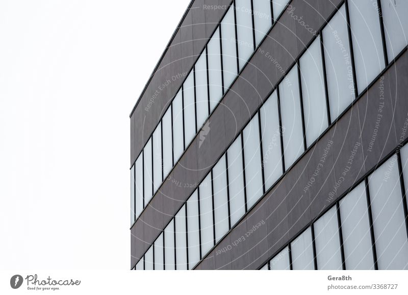 many empty windows of a gray concrete building House (Residential Structure) Office Building Architecture Street Stone Concrete Modern New Gloomy Gray