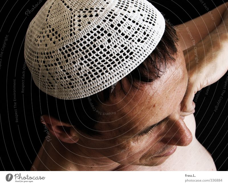 cap Masculine Man Adults Head 1 Human being 45 - 60 years Cap Think Exceptional Tolerant Religion and faith Chest ecumenical atheism religious freedom