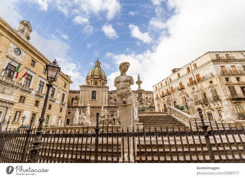 Fontana Pretoria in Palermo, Sicily, Italy Style Design Vacation & Travel Tourism Summer House (Residential Structure) Art Culture Town Church Places Building