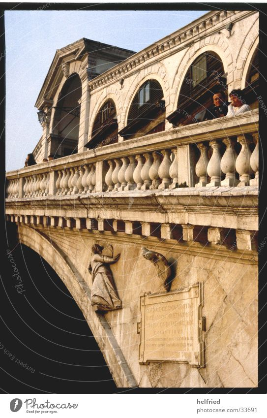 ponte rialto Italy Venice Europe Bridge Perspective Architecture