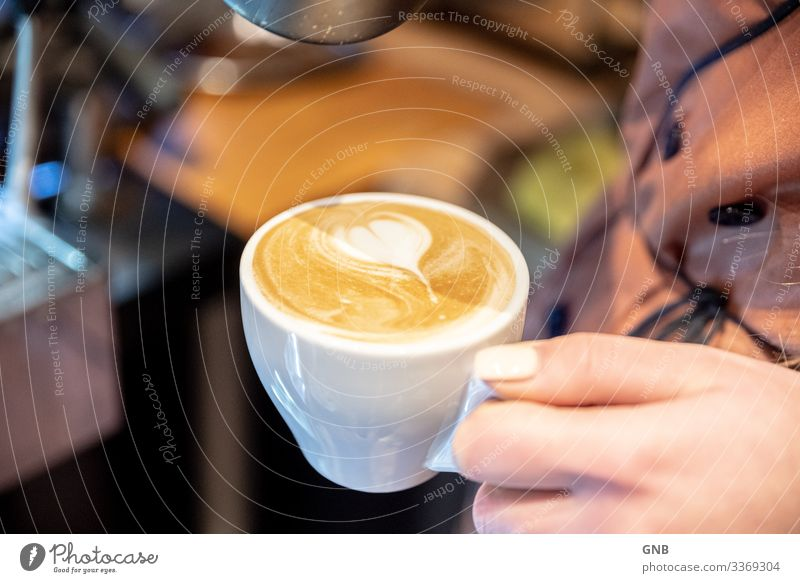 cappuccino Breakfast Beverage Hot drink Coffee Cappuccino Cup barista Café Gastronomy Hand Make Delicious Warm-heartedness To enjoy Culture Italian Food