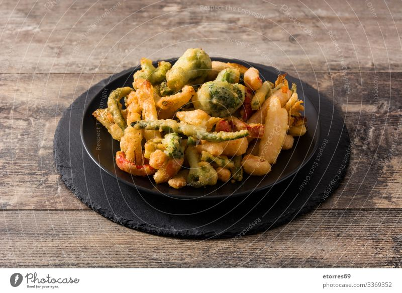 Japanese vegetable tempura asian Broccoli Carrot crispy Delicious Diet Dinner Dish Food Healthy Eating Food photograph Frying Green Lunch Mix Nutrition