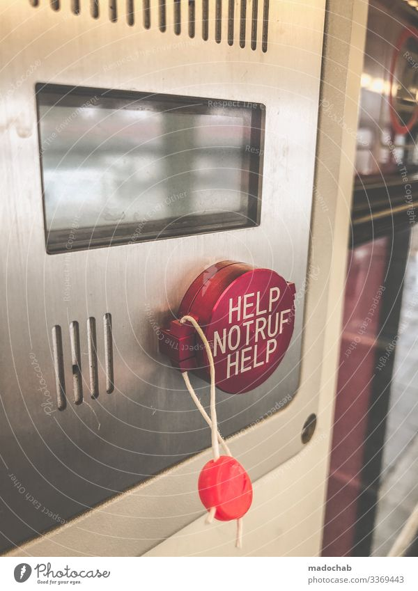 PUSH THE BUTTON - HELP EMERGENCY CALL HELP Technology Transport Means of transport Rail transport Train travel Passenger train Commuter trains Train compartment