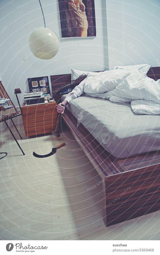 Man Interior design Style Retro Dream Sleep Bed Alcohol-fueled Strange Bedroom Hammer