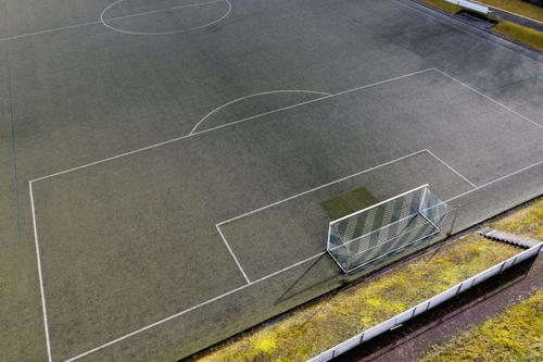 #Football field from above Sports Soccer Foot ball Sporting Complex Sporting event Football pitch Stadium Esthetic Soccer Goal Colour photo Exterior shot