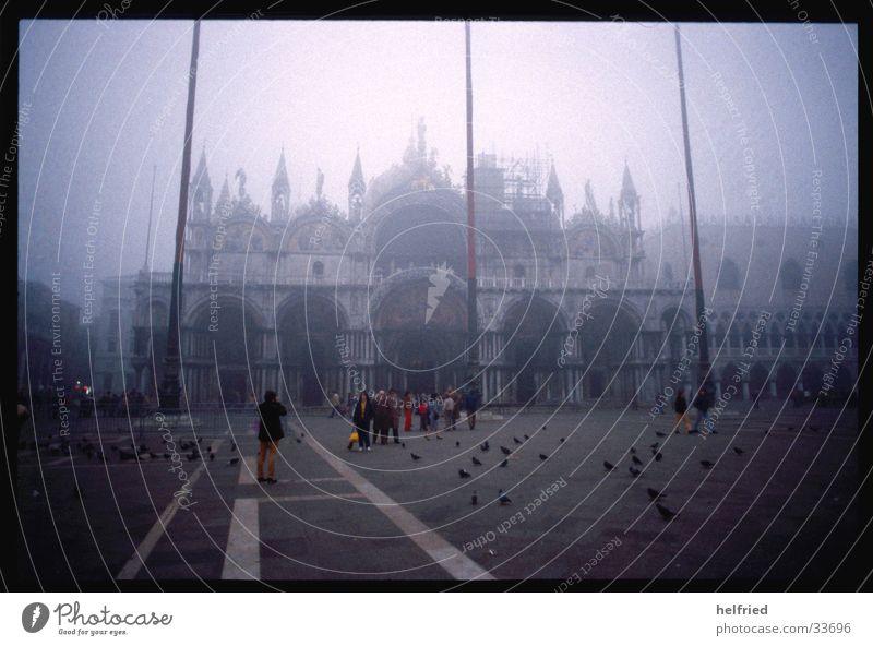 november fog in venice Europe Italy Venice November mood.fog marcusplatz duomo di san marco