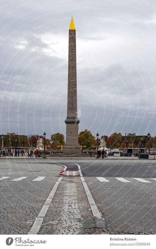 obelisk Tourism Capital city Places Tourist Attraction Landmark Gold Historic Tall Point Place de la Concorde Monolith Granite Gift Hieroglyph City Paris France