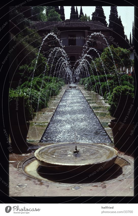 water features Europe Spain Granada Park Architecture Water