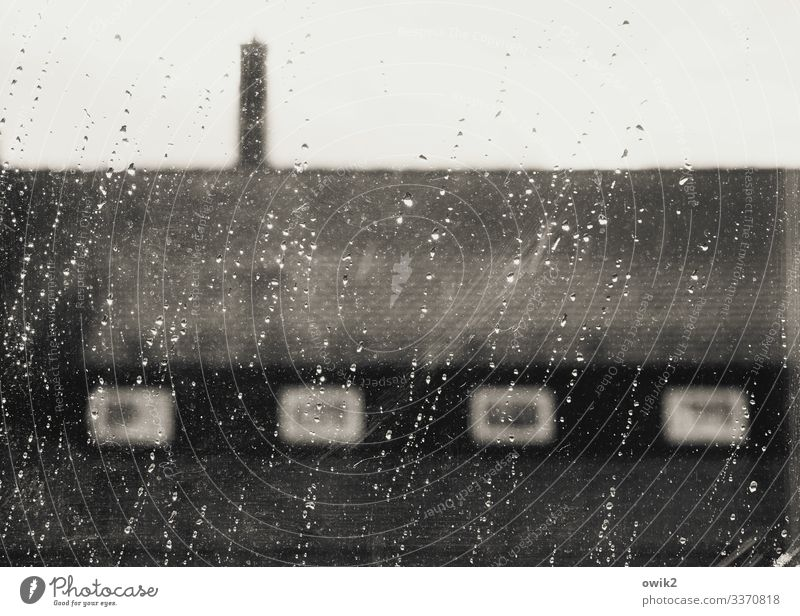 Terribly beautiful Drops of water Clouds Bad weather Storm Wind Gale Rain Bautzen Small Town House (Residential Structure) Wall (barrier) Wall (building) Window