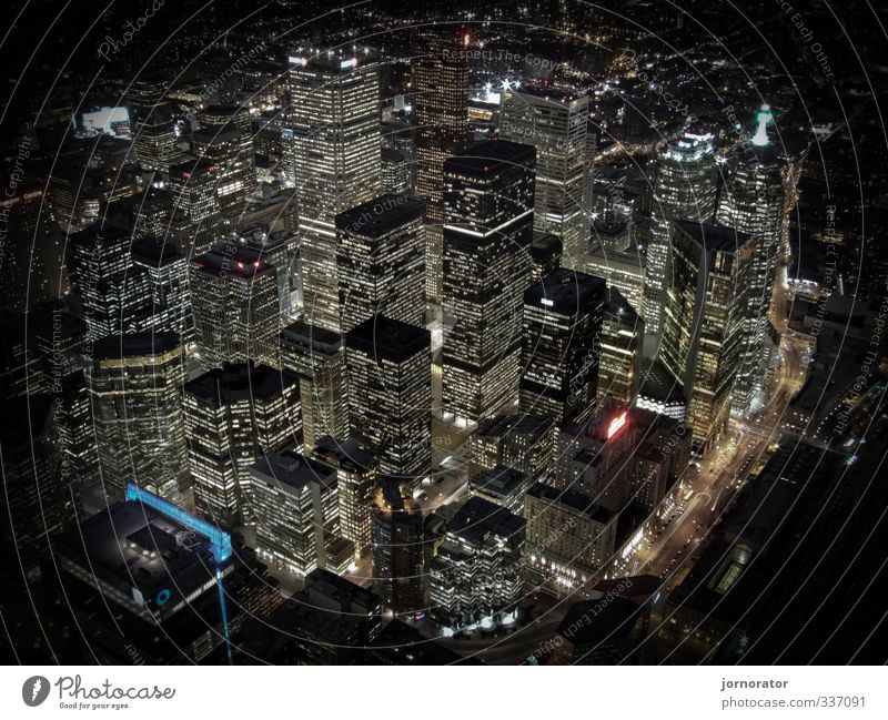 City House (Residential Structure) Street Architecture Business High-rise Bank building Skyline Capital city Night life Toronto