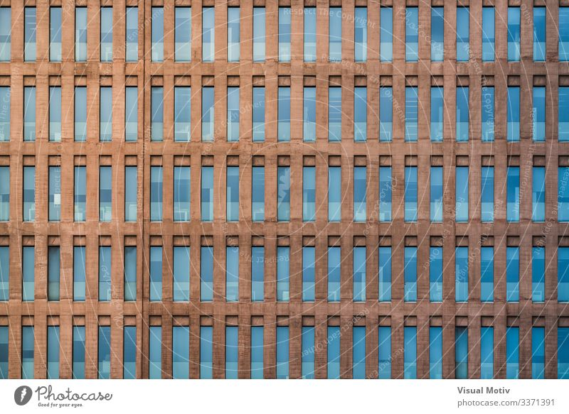 Uniform facade of a building Design Office Building Architecture Facade Colour urban facade windows glazed windows abstract background building facade