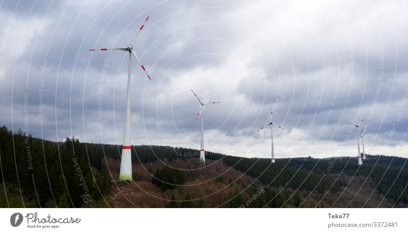 #Windmills on hill Winter Energy industry Renewable energy Wind energy plant Environment Nature Landscape Plant Forest Esthetic Pinwheel Colour photo