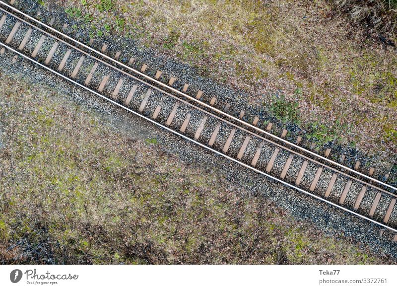 #Railroad tracks from above Winter Transport Means of transport Traffic infrastructure Passenger traffic Public transit Rush hour Rail transport Train travel